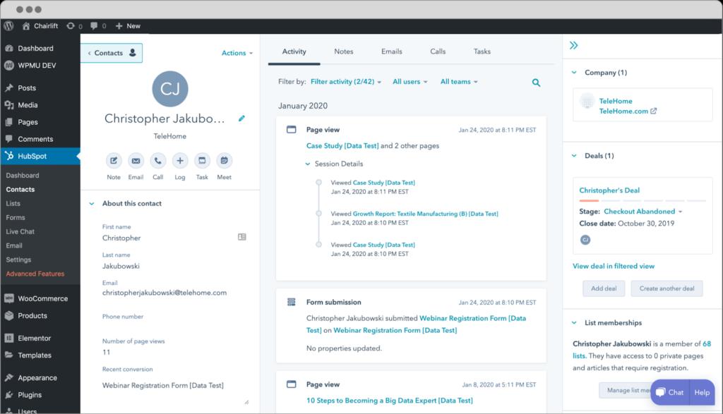 HubSpot CRM MailChimp Integration