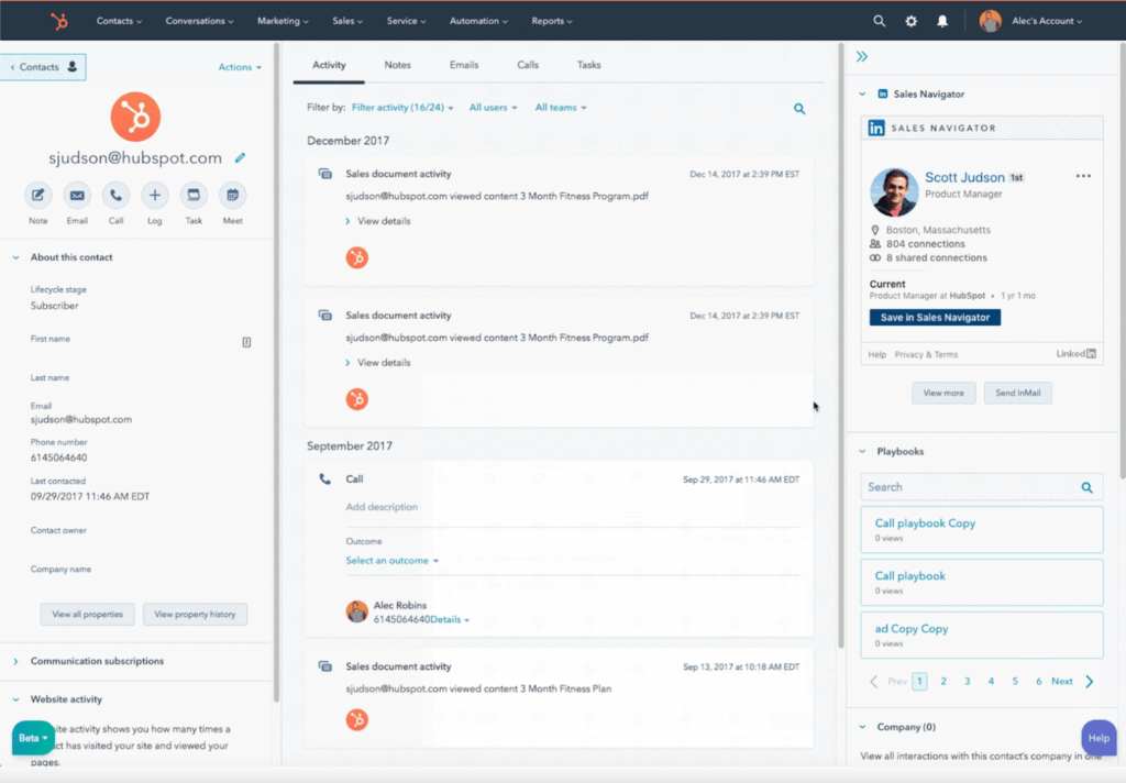 HubSpot CRM Salesforce Competitor