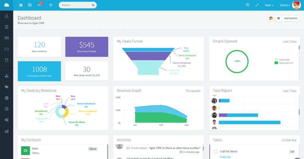 Agile CRM - CRM for Startups