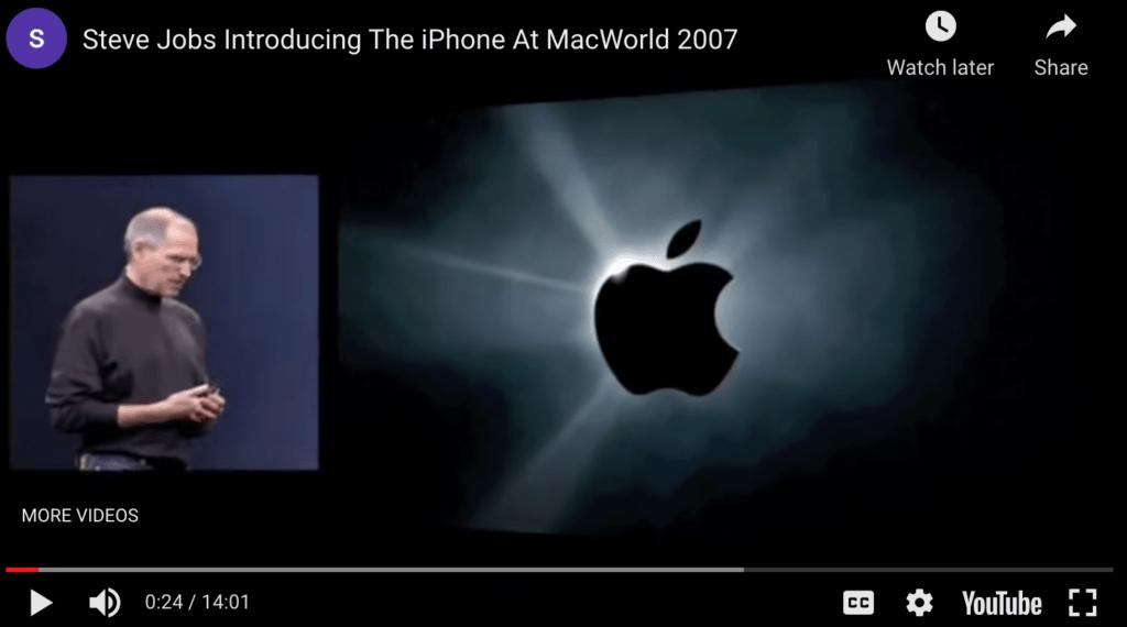 Apple sales presentation example