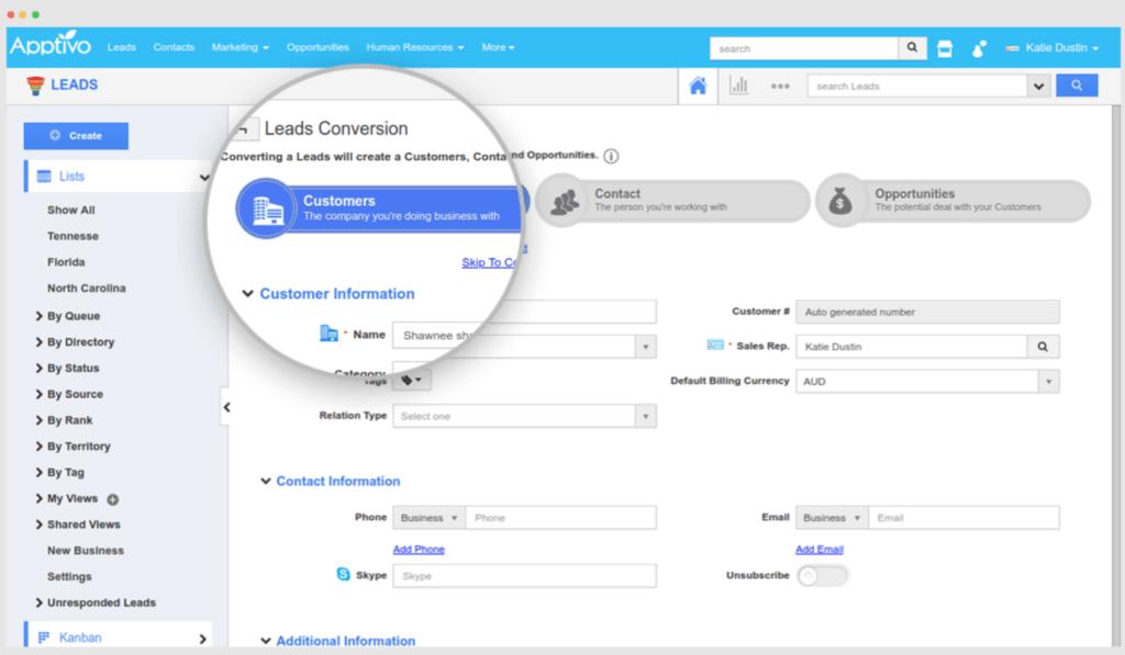 Apptivo - CRM Lead Management Software