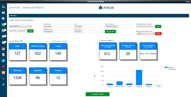 Law Ruler CRM for Law Firms