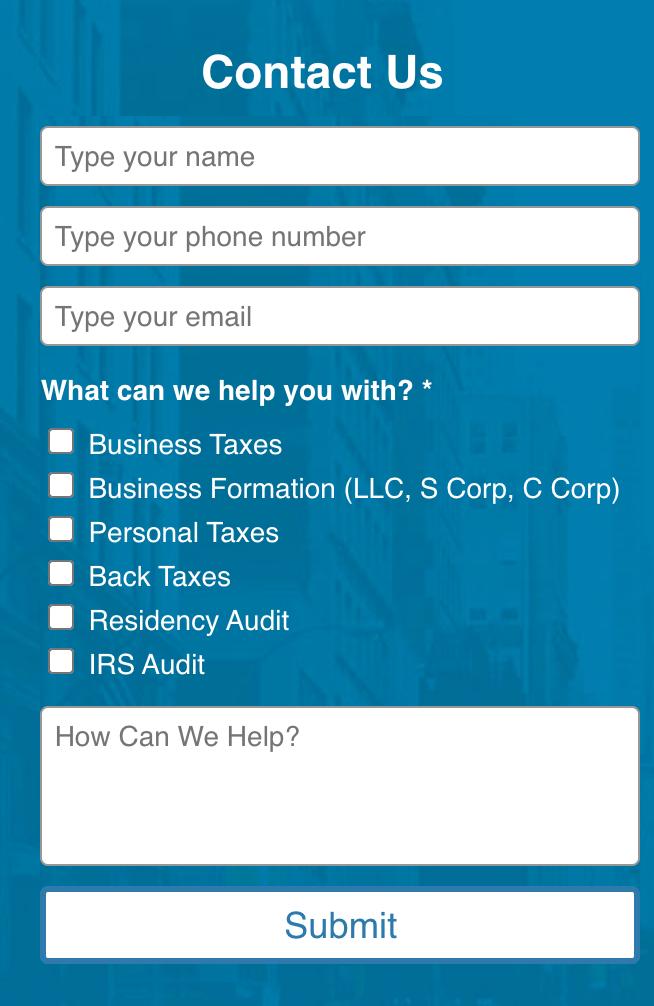 Needs assessment web form example Needs Assessment