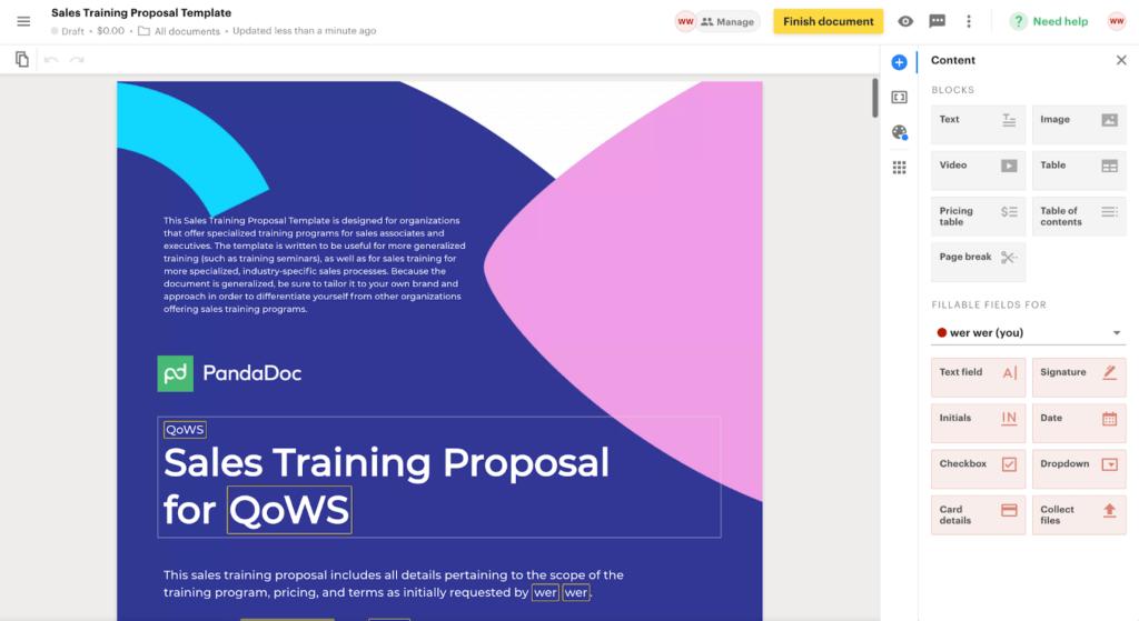 PandaDoc Proposal Software