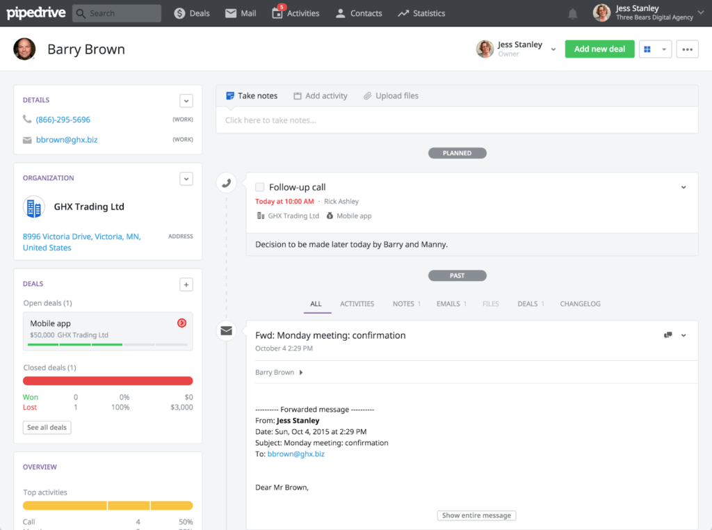Pipedrive - CRM for Startups