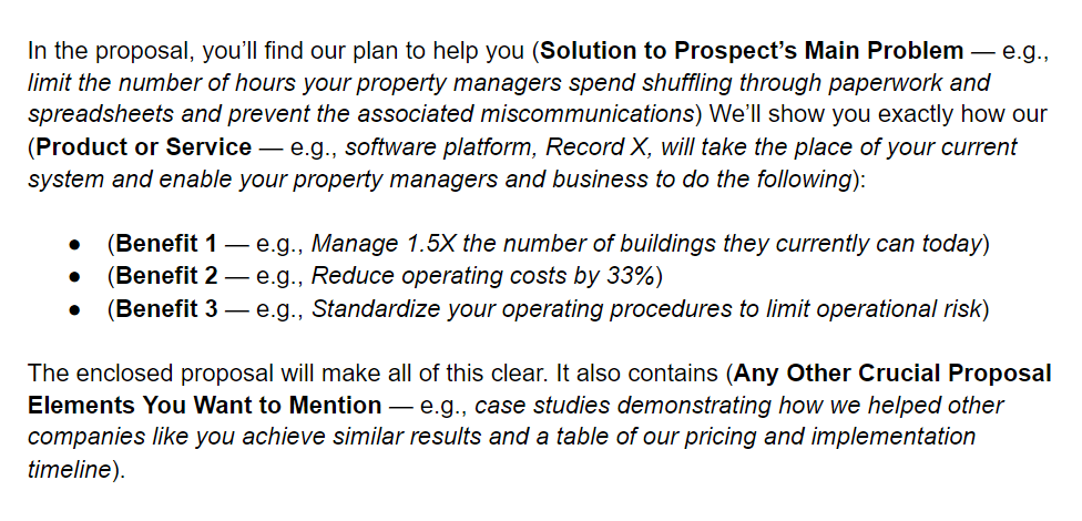 business proposal letter statement of purpose example