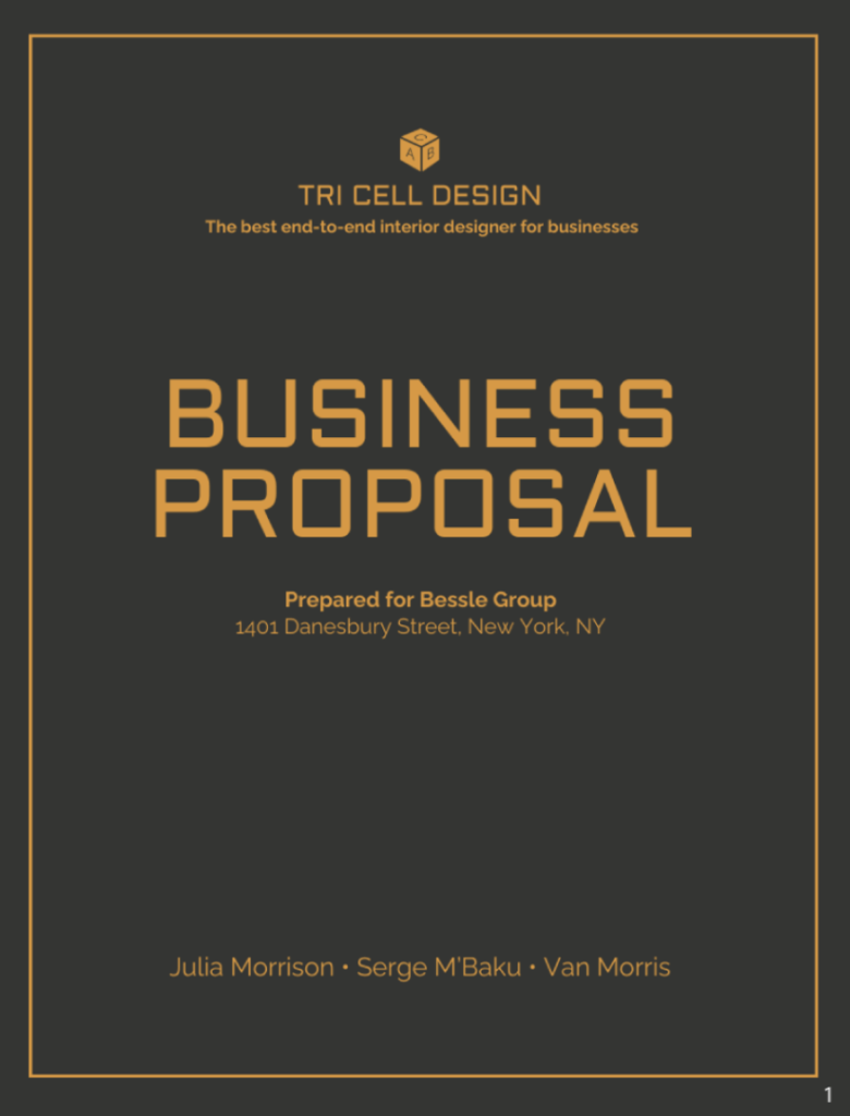 Vengage general business proposal template