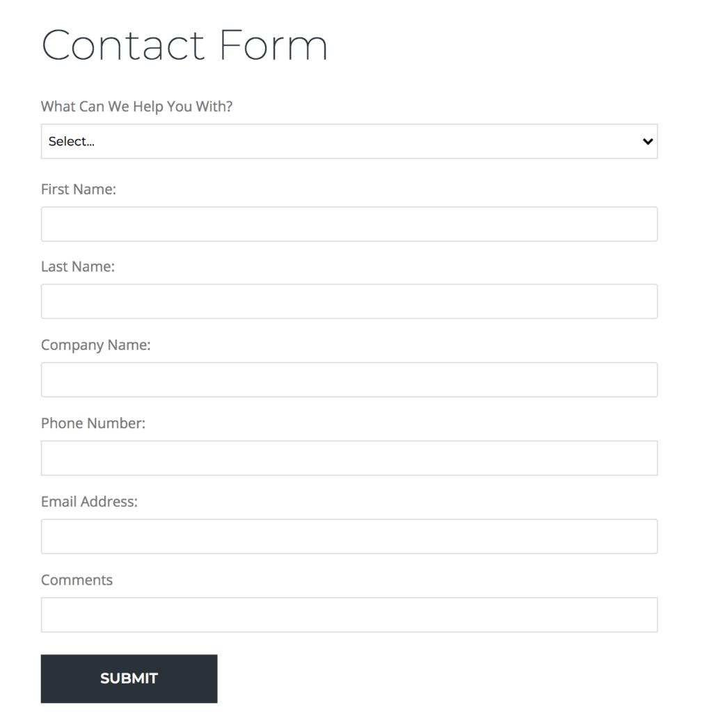 Web form needs assessment example Needs Assessment