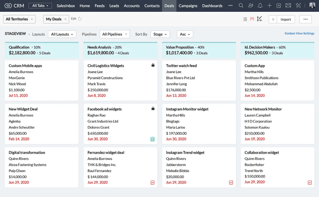 Zoho CRM CRM Software for Freelancers