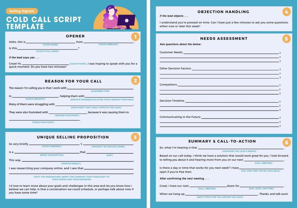 Free cold call script template