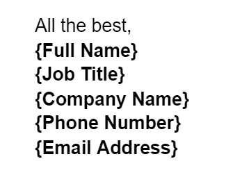 Sales email template email signature