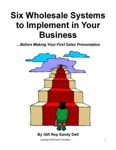 Six Wholesale Systems to Implement in Your Business