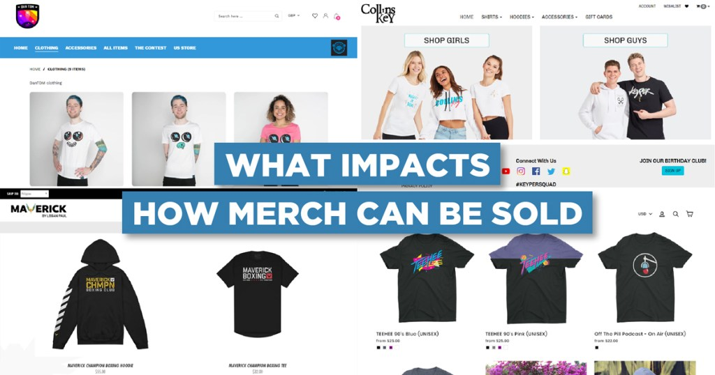 What impacts how much merch can be sold?