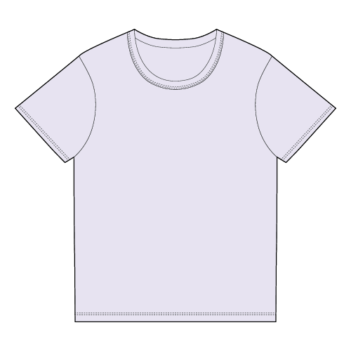 Types of T-shirts - Basis half sleeve t-shirt