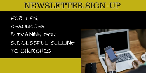 Newsletter sign up form for SELL TO CHURCHES