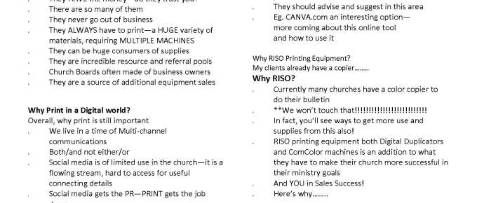 How to be successful in selling to the church market