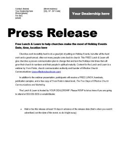 press-release-for-lunch-learn