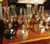 Oil lamps, accessories/props