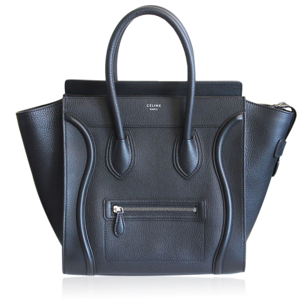 Authentic Celine Mini Luggage Tote Black W/Original Receipt MM 2014