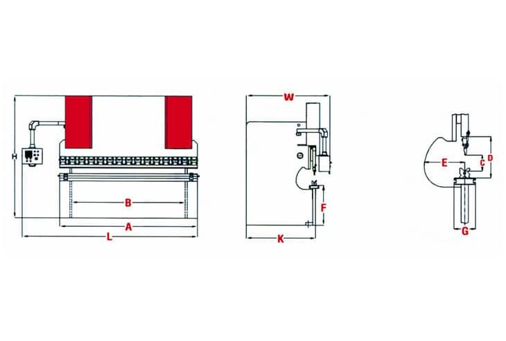 Morgan Rushworth PB NC Hydraulic Sheet Metal Press Brake