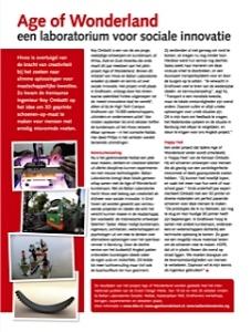 Foto van het artikel 'Age of Wonderland' in Hivos magazine.