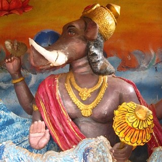 Foto van halfgod Ganesh.
