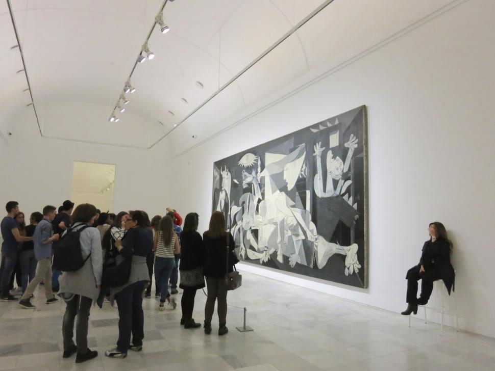 Foto van het meesterwerk 'Guernica' van Pablo Ruiz Picasso.