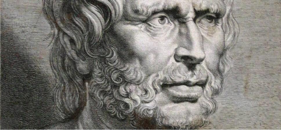 Portrettekening van de filosoof Seneca.