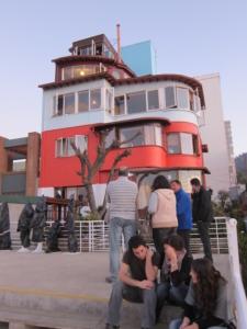 Foto van het woonhuis La Sebastiana van Pablo Neruda