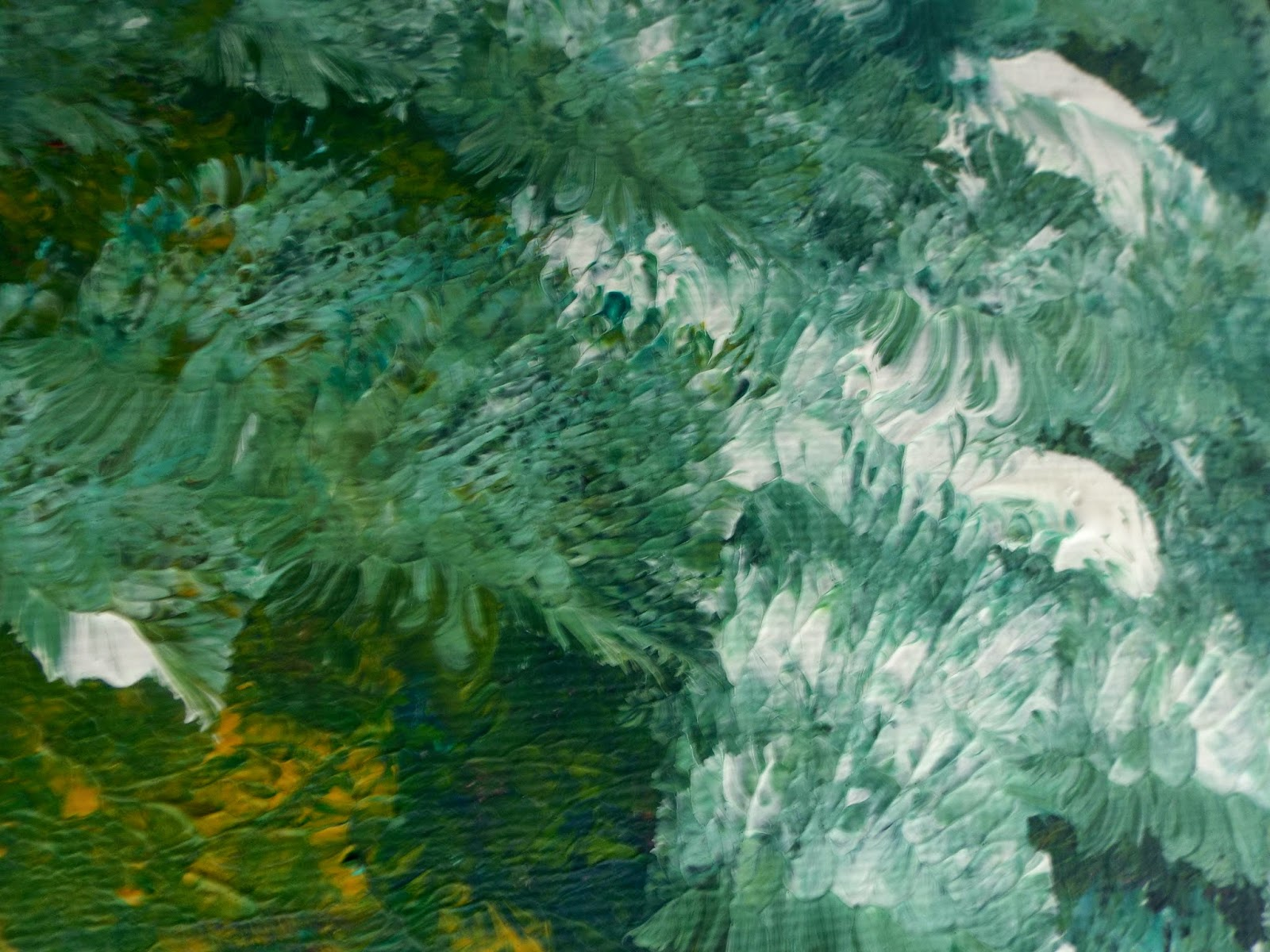Fine Art Painting Green Cabbage Abstract Painting Selmasgallery