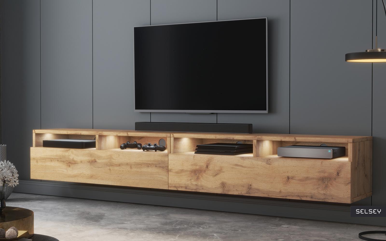 rednaw meuble tv moderne 2x100 cm selsey