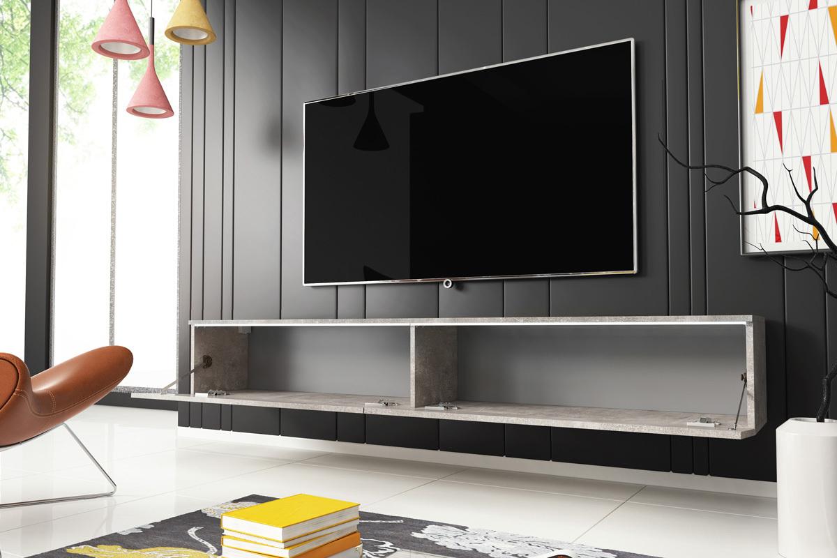 kane meuble tv suspendu 180 cm selsey