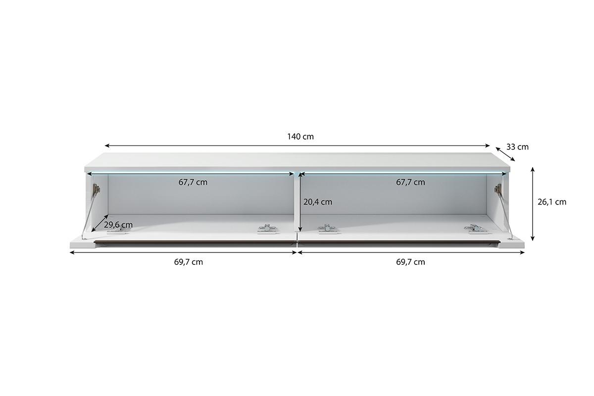 swift meuble tv led 140 cm selsey