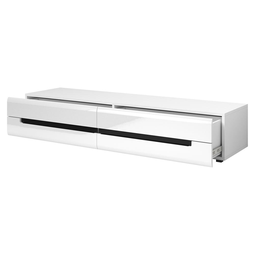 canopus ii meuble tv blanc laque 180 cm