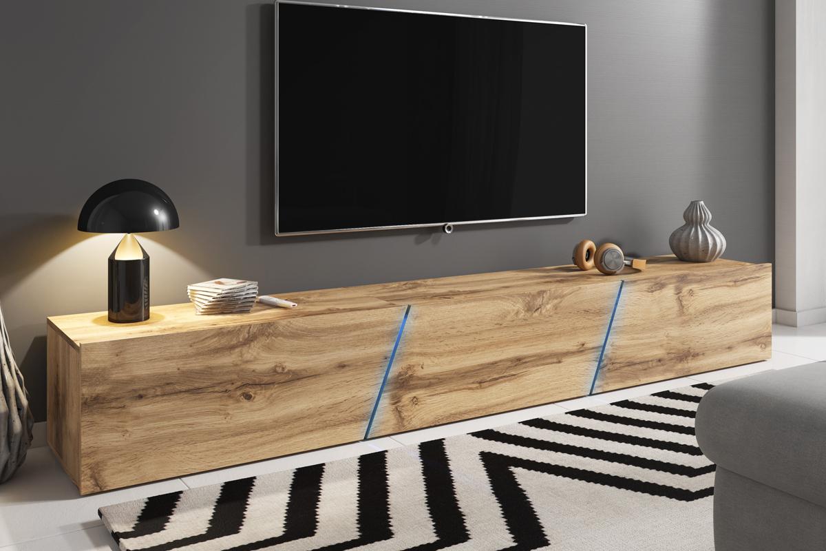 alamara meuble tv led 240 cm selsey