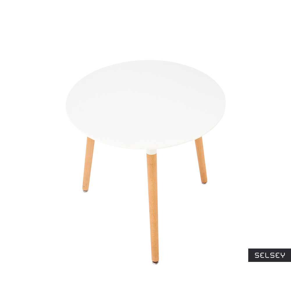 irgil white scandinavian round table 80