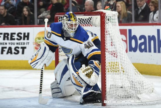 Newly acquired Sabres goalie Carter Hutton