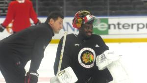 Malcolm Subban joined the Blackhawks at the 2020 NHL Trade Deadline