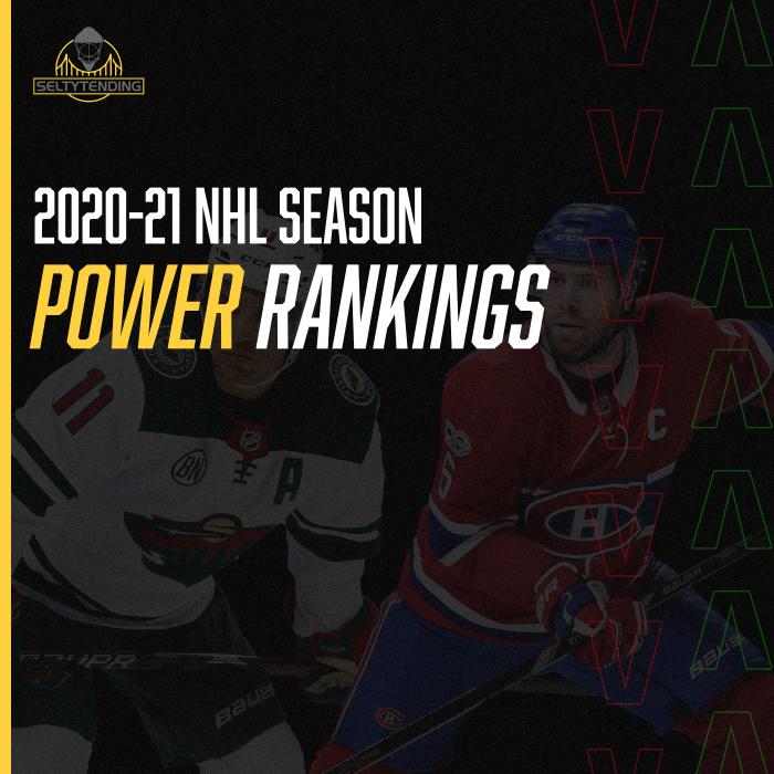 2020-21 NHL Power Rankings