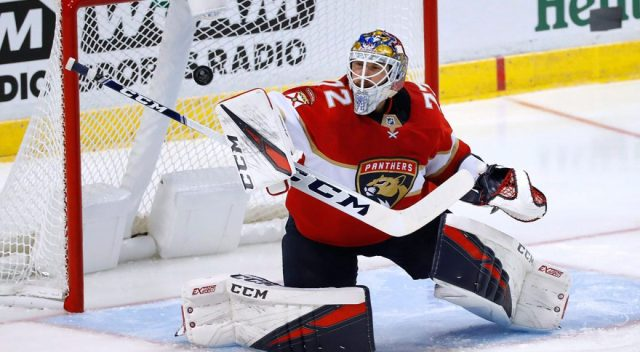 Sergei Bobrovsky is in the second year of a seven year contract for the Panthers, with a $10 million AAV.