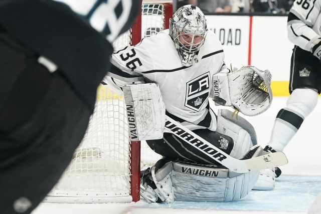 Jack Campbell with the Los Angeles Kings, 2018.