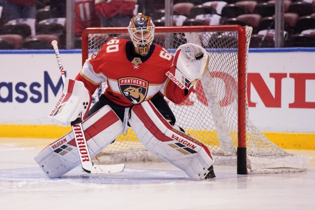 Chris Driedger, former Florida Panthers goalie ( byJasen Vinlove - USA TODAY Sports, from SI.com)
