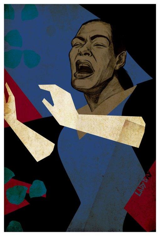 Billie Holiday Illustration