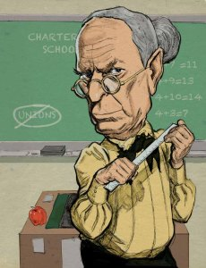 Bloomberg as Schoolmarm Illustration