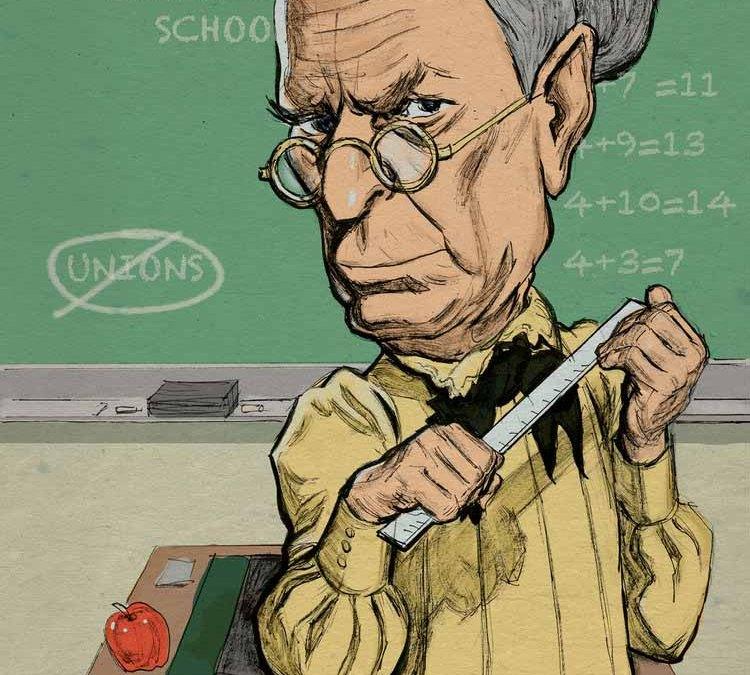 Bloomberg as Schoolmarm Illustration