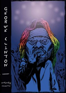 George Clinton Postcard Illustration