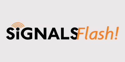 Logo signals flash