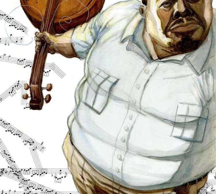 Charles Mingus (Painted) Illustration