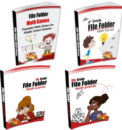 Middle School + 6th Grade + 7th Grade + 8th Grade Books -  MathFileFolderGames.com [ 1080 x 1080 Pixel ]