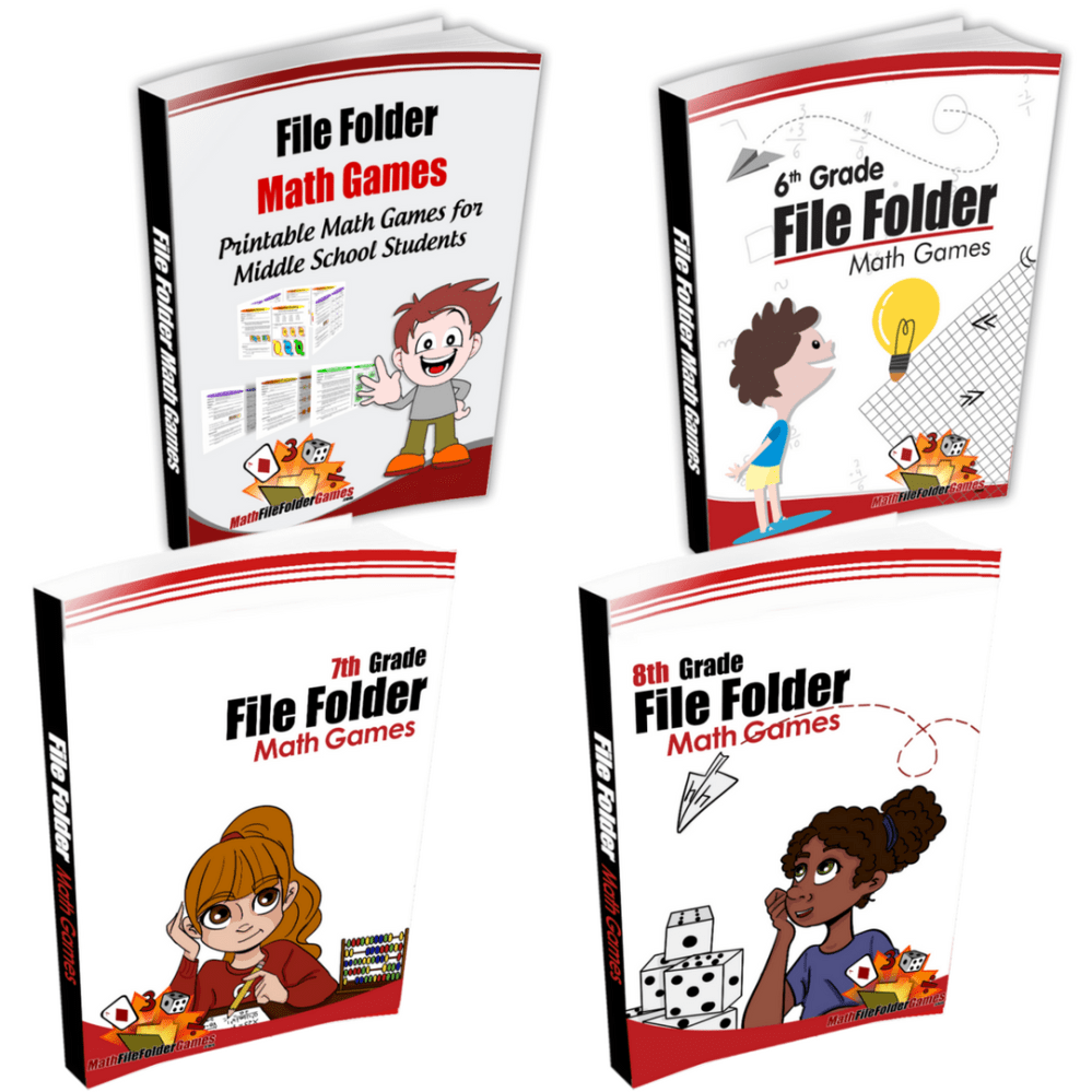 medium resolution of Middle School + 6th Grade + 7th Grade + 8th Grade Books -  MathFileFolderGames.com